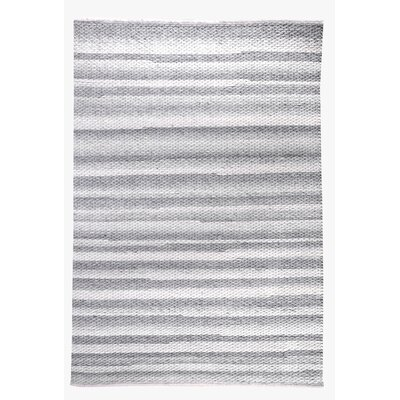 Giselle Hand-Woven Ivory/Gray Area Rug Rug Size: 53 x 76
