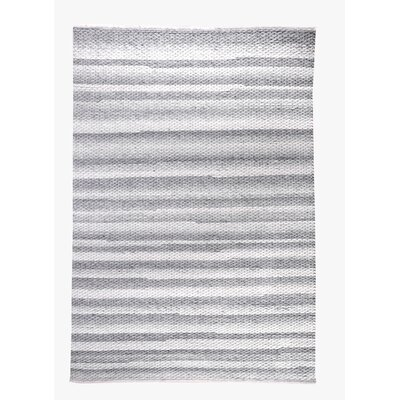 Giselle Hand-Woven Ivory/Gray Area Rug Rug Size: 8 x 10