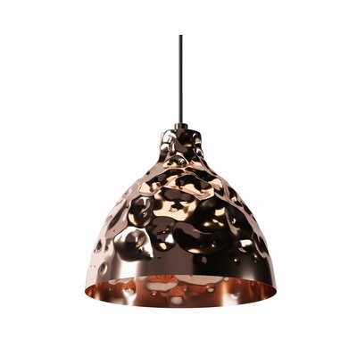 Georgia 1-Light Mini Pendant Shade Color: Copper