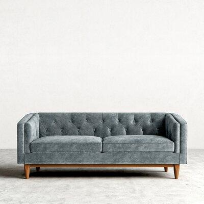 Scarlett Chesterfield Sofa Upholstery: Stonewash