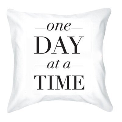 One Day at a Time Cotton Pillow Cover
