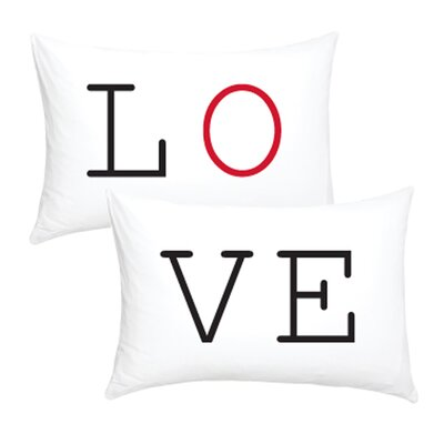 2 Piece Love Cotton Pillowcase Set