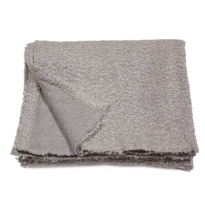 Boucle Throw Blanket Color: Light Grey