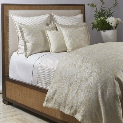 Arabesque 3 Piece Duvet Cover Set Size: Queen, Color: Platinum/Cream