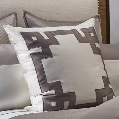 Motif Applique Euro Sham Color: Taupe