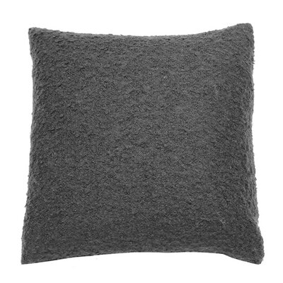 Boucle Throw Pillow Color: Charcoal