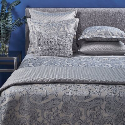 Arabesque 3 Piece Duvet Cover Set Size: Queen, Color: Silver