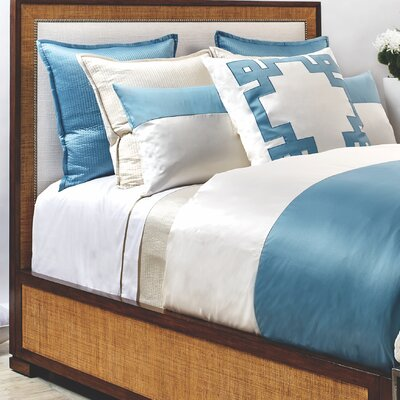 Motif 3 Piece Duvet Cover Set Size: King, Color: Aegean Blue