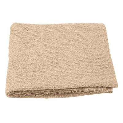 Boucle Throw Blanket Color: Oyster