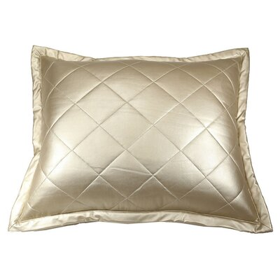 Faux Leather Throw Pillow Color: Gold