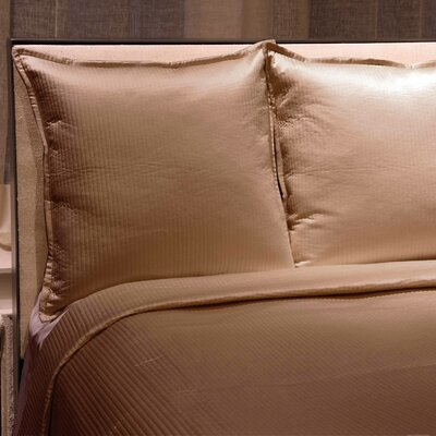 Linea Reversible Coverlet Set Color: Taupe, Size: King