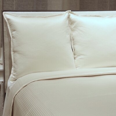 Linea Coverlet Set Size: Queen, Color: Ivory