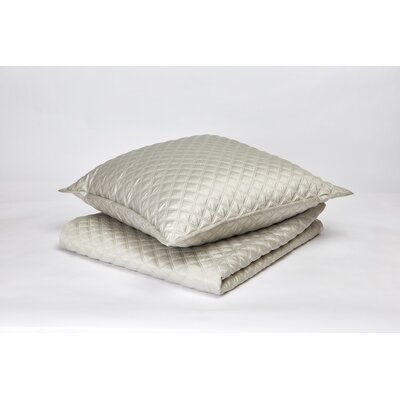 Double Diamond Coverlet Set Size: King, Color: Silver