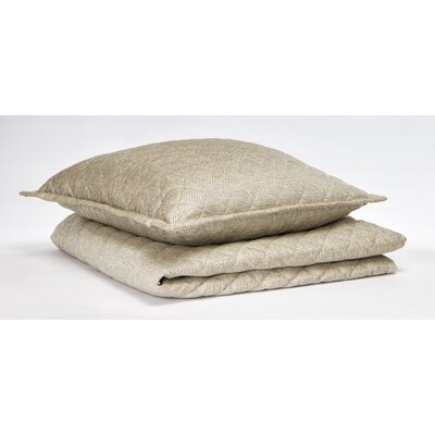 Raffia Coverlet Set Size: Queen, Color: Ivory