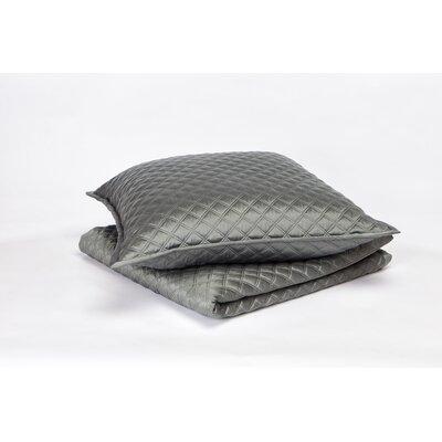 Double Diamond Coverlet Set Color: Charcoal, Size: Queen