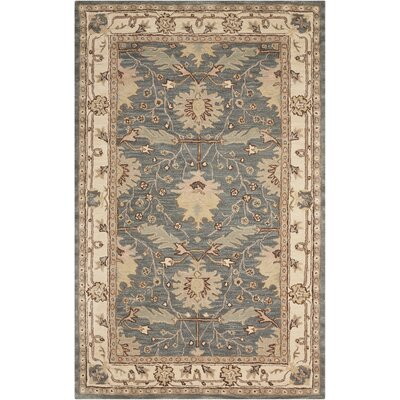 Constance Hand-Tufted Blue Area Rug Rug Size: Rectangle 36 x 56