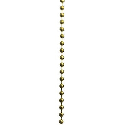 12 Beaded Ceiling Fan Pull Chain in Polished Brass (Set of 100)