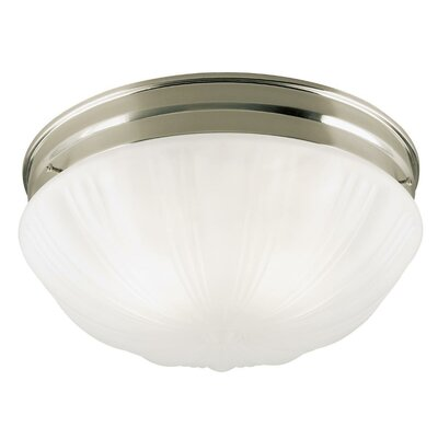 Flush Mount (Set of 2) Finish: Brushed Nickel Without Pull Chain