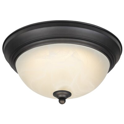 1-Light Dimmable LED Flush Mount Finish: Oil Rubbed Bronze