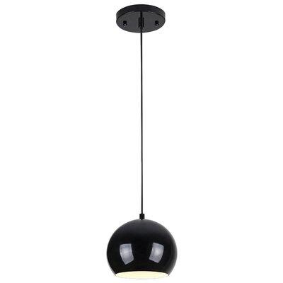 Capucina 1-Light Mini Pendant Finish: Black