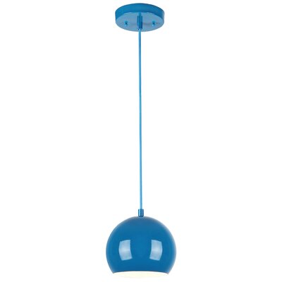 Capucina 1-Light Mini Pendant Finish: Blue