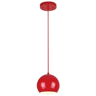 Capucina 1-Light Mini Pendant Finish: Red