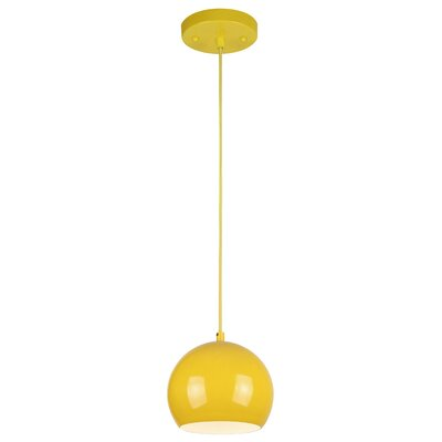 Capucina 1-Light Mini Pendant Finish: Yellow