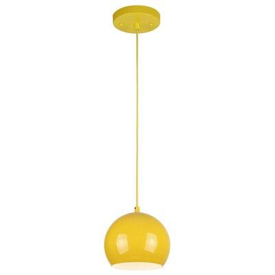 1-Light Mini Pendant Finish: Yellow