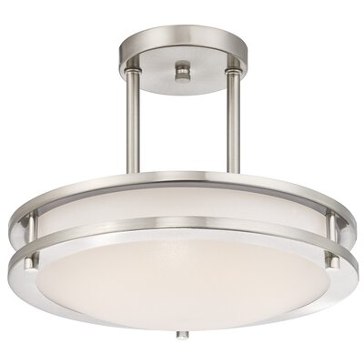 Wirrian 1-Light Dimmable LED Semi-Flush Mount