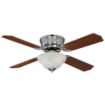 42 Hadley 4-Blade Indoor Ceiling Fan Finish: Brushed Nickel with Dark Cherry/Rosewood Blades
