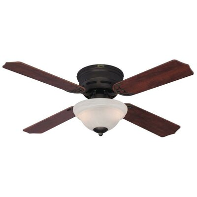 42 Hadley 4-Blade Indoor Ceiling Fan Finish: Oil Rubber Bronze with Applewood/Cherry Blades