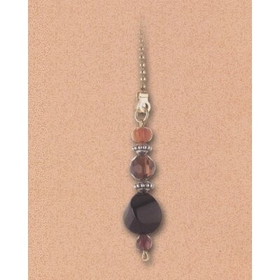 Details Burgundy & Orange Beads Ceiling Fan Pull Chain (Set of 10)