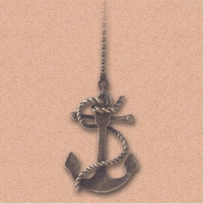 Details Anchor Ceiling Fan Pull Chain in Antique Brass (Set of 6)