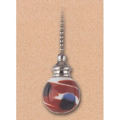 Details Red, White, and Blue Swirl Glass Ceiling Fan Pull Chain (Set of 7)