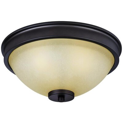 Boulevard 3-Light Flush Mount Finish: Bronze