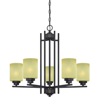 Ewing 5-Light Shaded Chandelier
