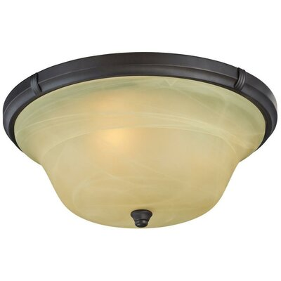 Tolbut 3-Light Flush Mount Finish: Bronze