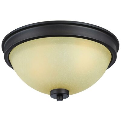 Boulevard 2-Light Flush Mount Finish: Bronze