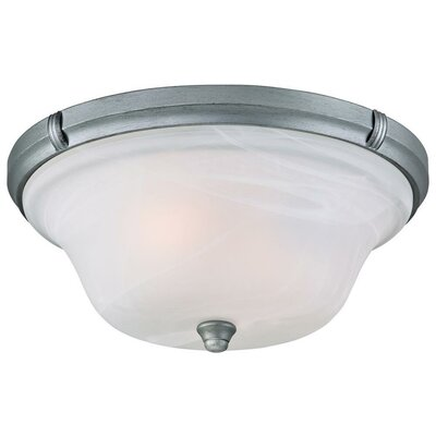 Tolbut 2-Light Flush Mount Finish: Antique Silver