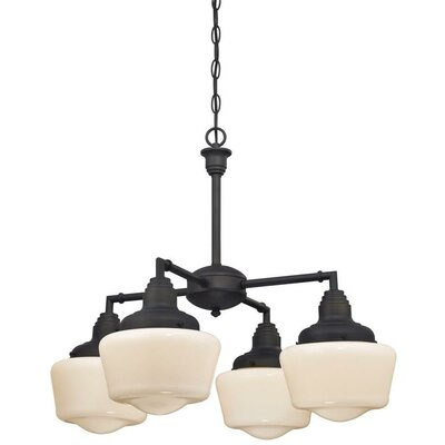Englehart 4-Light Shaded Chandelier