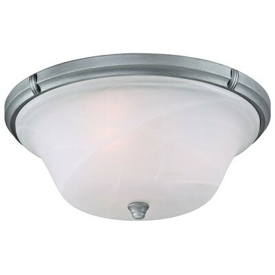 Tolbut 3-Light Flush Mount Finish: Antique Silver