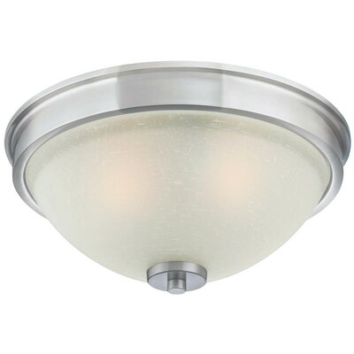 Karah 3-Light Flush Mount Finish: Brushed Nickel