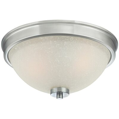 Boulevard 2-Light Flush Mount Finish: Brushed Nickel
