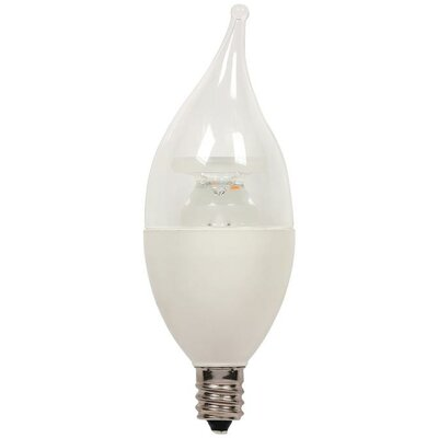 5-Watt (40-Watt) Flame Tip CA11 Dimmable LED Light Bulb
