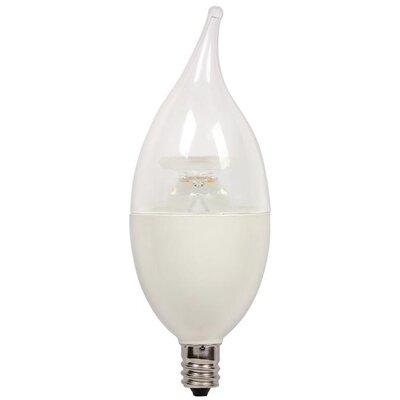 7-Watt (60-Watt) Flame Tip CA13 Dimmable LED Light Bulb