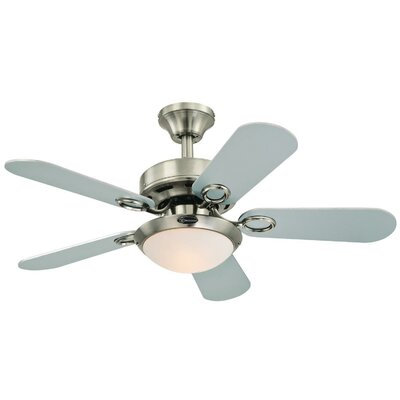 36 Birchwood Two-Light Reversible 5-Blade Indoor Ceiling Fan
