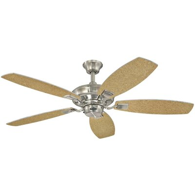 52 Aiden Reversible 5-Blade Indoor Ceiling Fan Finish: Brushed Nickel with Rich Walnut / Birds Eye Map