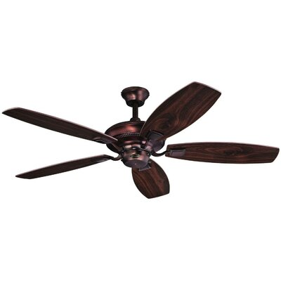 52 Aiden Reversible 5-Blade Indoor Ceiling Fan Finish: Oil Brushed Bronze with Dark Cherry / Mahogany Bla