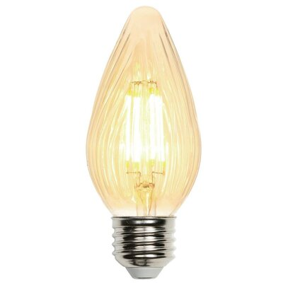 5W Yellow Medium Base F15 LED Light Bulb
