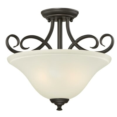 Dunmore 2-Light Semi Flush Mount